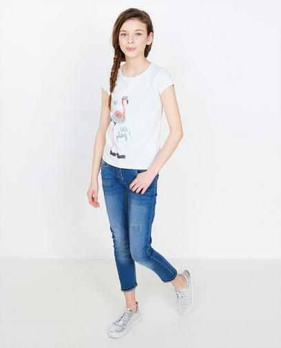 T-shirt met flamingoprint
